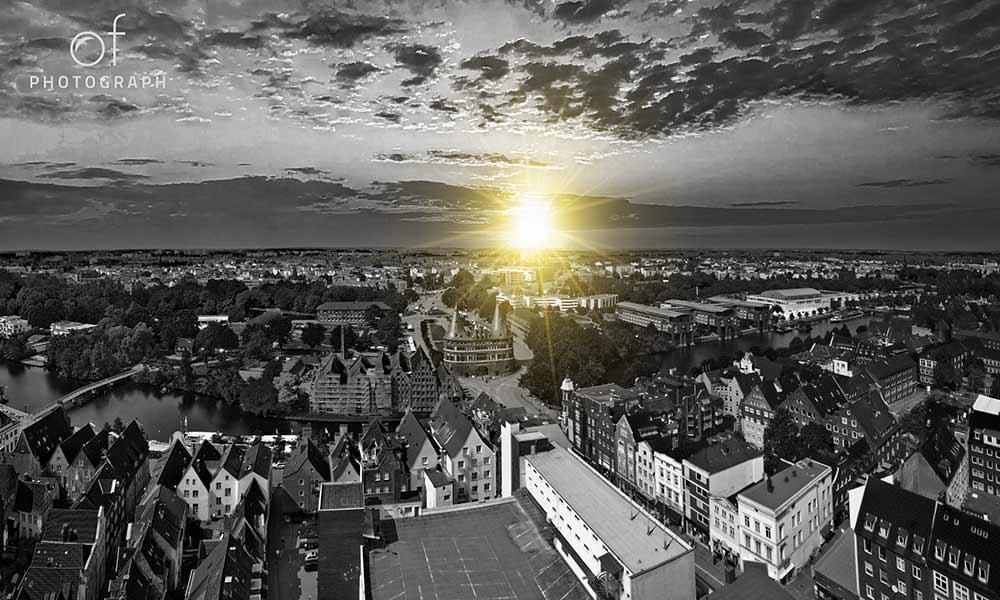 Blick auf das Lübecker Holstentor