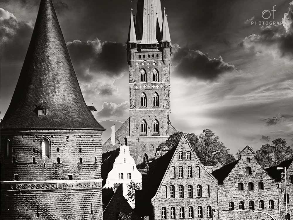 Bllick auf die Lübecker Altstadt
